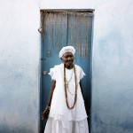 Brazil, Cachoeira, Salvador da Bahia. 105 year old Mai Filinha, the Perpetual Judge (eldest member) of the Irmandade da Boa Morte (Sisterhood of the Good Death).