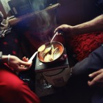 Romania, Bucharest. Alina and Sorin cooking soup.