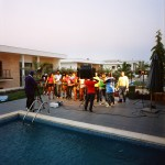 Angola, Luanda. Kuduru/Kuduro musician Cabo Snoop and others during the shooting of his last video.