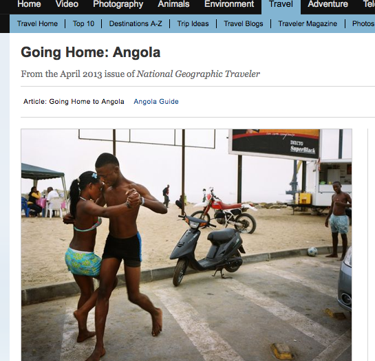 Angola on National Geographic Travel