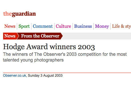 Observer Hodge Photographic Award