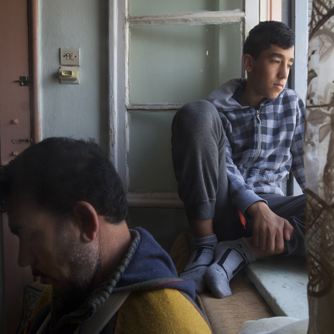 Syrian refugees, Athens. Greece