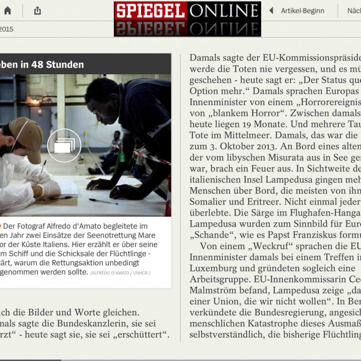 Interview for Der Spiegel